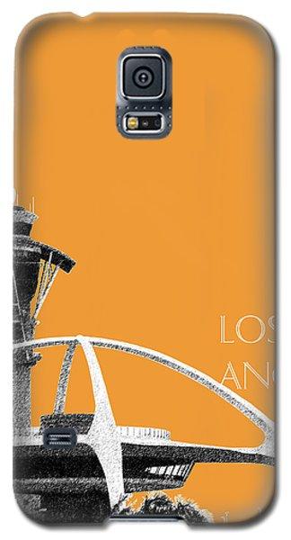 Los Angeles Skyline Lax Spider - Orange Galaxy S5 Case by DB Artist