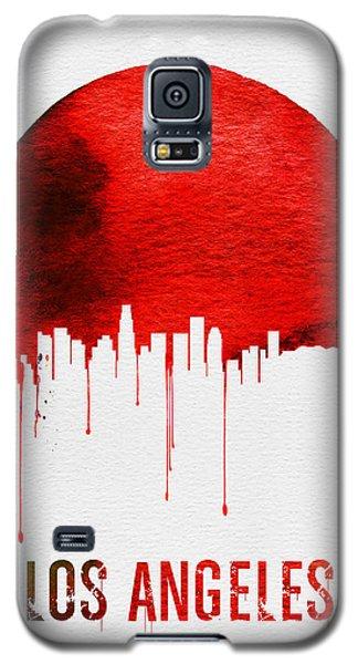 Los Angeles Skyline Red Galaxy S5 Case by Naxart Studio