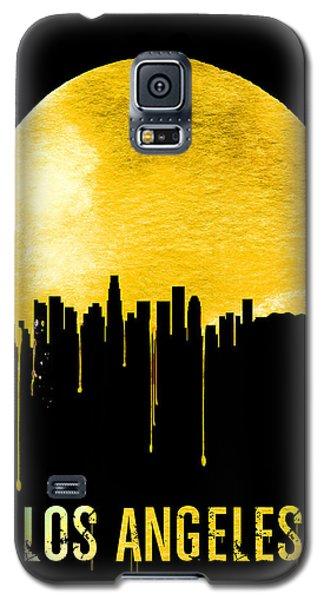 Los Angeles Skyline Yellow Galaxy S5 Case by Naxart Studio