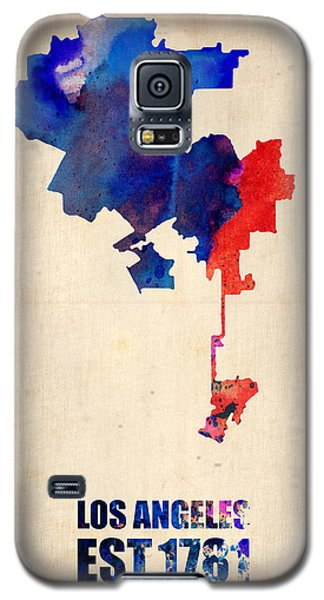 Los Angeles Watercolor Map 1 Galaxy S5 Case by Naxart Studio