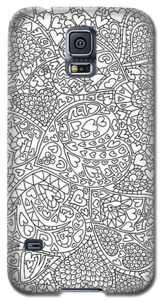 Love And Chrysanthemum Filled Hearts Vertical Galaxy S5 Case by Tamara Kulish