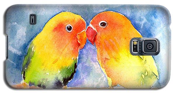 Lovey Dovey Lovebirds Galaxy S5 Case by Arline Wagner