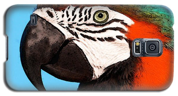 Macaw Bird - Rain Forest Royalty Galaxy S5 Case by Sharon Cummings