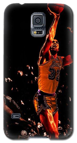 Magic Johnson Lean Back II Galaxy S5 Case by Brian Reaves