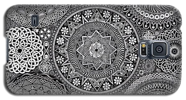 Drawings Galaxy S5 Cases - Mandala Bouquet Galaxy S5 Case by Matthew Ridgway