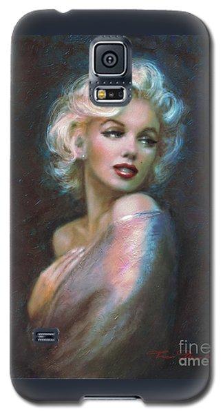 Marilyn Romantic Ww Dark Blue Galaxy S5 Case by Theo Danella