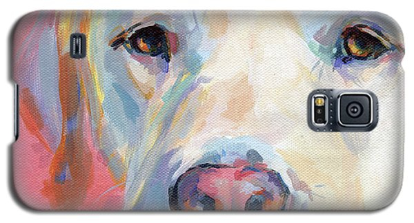 Yellow Galaxy S5 Cases - Marthas Pink Nose Galaxy S5 Case by Kimberly Santini