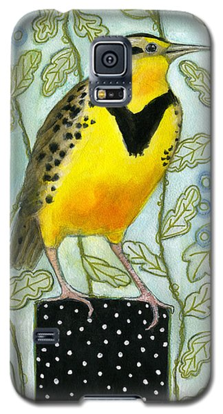 Meadowlark Black Dot Box Galaxy S5 Case by Blenda Tyvoll