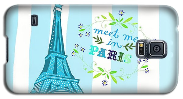 Meet Me In Paris Galaxy S5 Case by Priscilla Wolfe