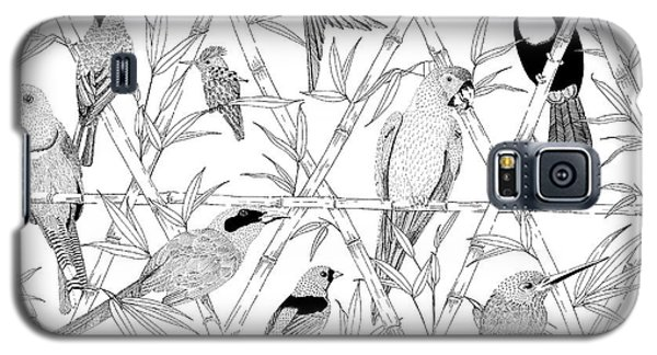 Menagerie Black And White Galaxy S5 Case by Jacqueline Colley