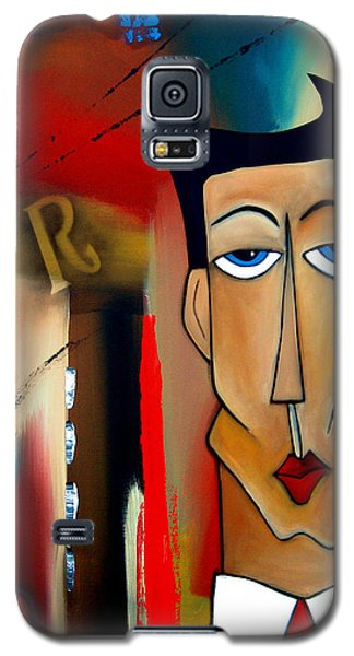 Drawings Galaxy S5 Cases - Merger - Abstract Art by Fidostudio Galaxy S5 Case by Tom Fedro - Fidostudio