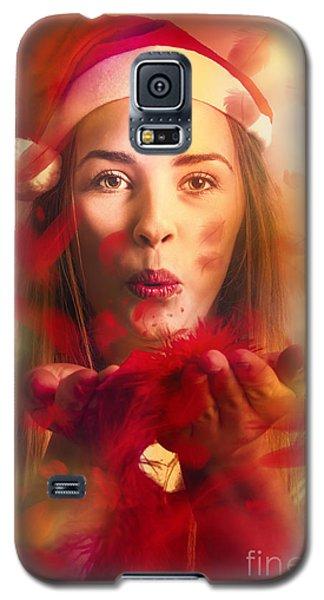 Merry Christmas Elf Galaxy S5 Case by Jorgo Photography - Wall Art Gallery