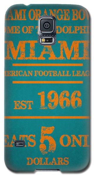 Miami Dolphins Sign Galaxy S5 Case by Joe Hamilton
