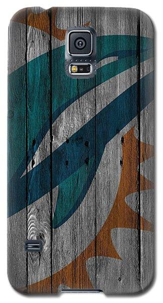 Miami Dolphins Wood Fence Galaxy S5 Case by Joe Hamilton