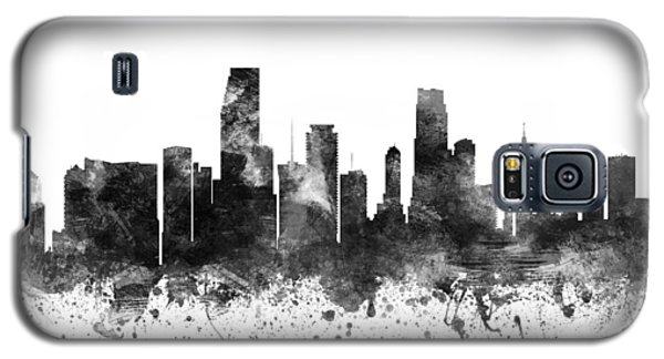 Miami Florida Cityscape 02bw Galaxy S5 Case by Aged Pixel