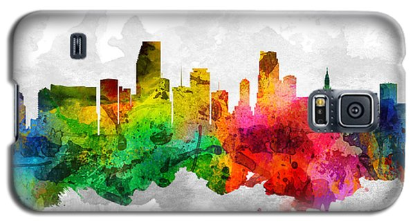 Miami Florida Cityscape 12 Galaxy S5 Case by Aged Pixel