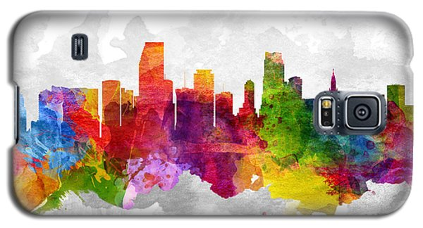 Miami Florida Cityscape 13 Galaxy S5 Case by Aged Pixel