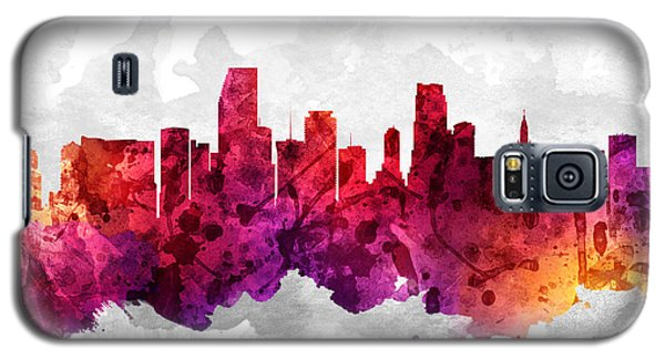Miami Florida Cityscape 14 Galaxy S5 Case by Aged Pixel