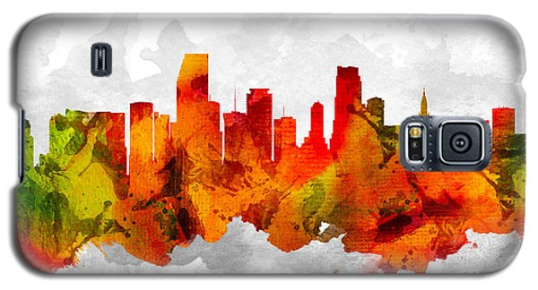 Miami Florida Cityscape 15 Galaxy S5 Case by Aged Pixel