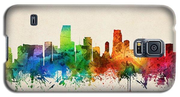 Miami Florida Skyline 05 Galaxy S5 Case by Aged Pixel