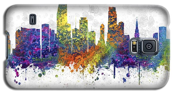 Miami Florida Skyline Color 03sq Galaxy S5 Case by Aged Pixel