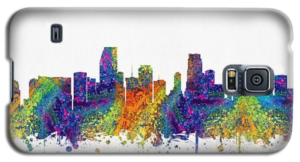 Miami Florida Skyline Color03 Galaxy S5 Case by Aged Pixel