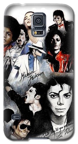 Michael Jackson - King Of Pop Galaxy S5 Case by Lin Petershagen