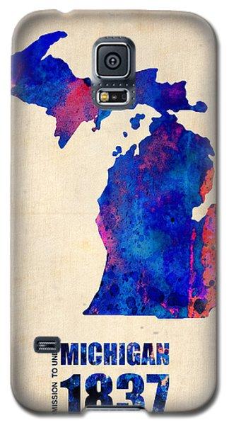 Michigan Watercolor Map Galaxy S5 Case by Naxart Studio