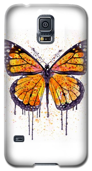 Monarch Butterfly Watercolor Galaxy S5 Case by Marian Voicu