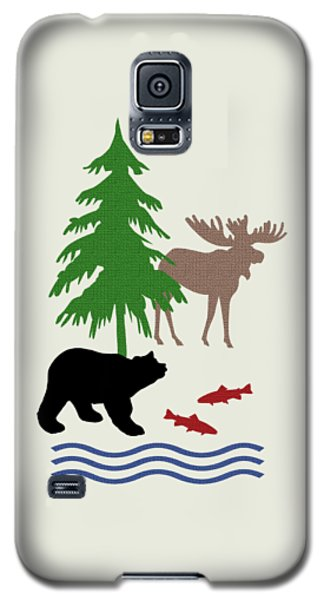 Moose And Bear Pattern Art Galaxy S5 Case by Christina Rollo