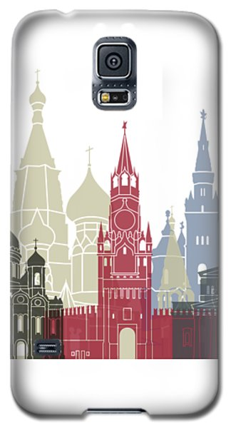 Moscow Skyline Poster Galaxy S5 Case by Pablo Romero
