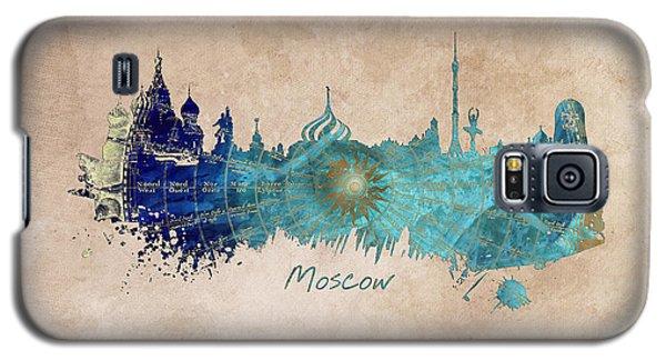 Moscow Skyline Wind Rose Galaxy S5 Case by Justyna JBJart