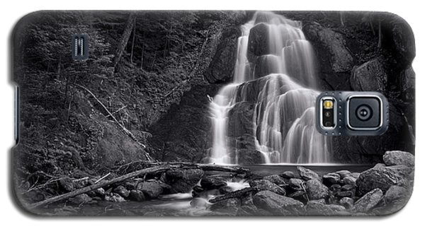 Buy Galaxy S5 Cases - Moss Glen Falls - Monochrome Galaxy S5 Case by Stephen Stookey