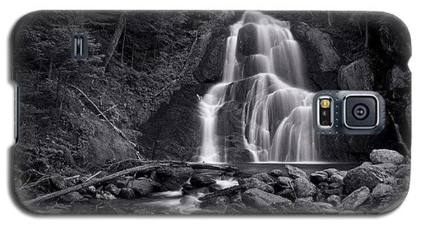 Galaxy S5 Cases - Moss Glen Falls - Monochrome Galaxy S5 Case by Stephen Stookey