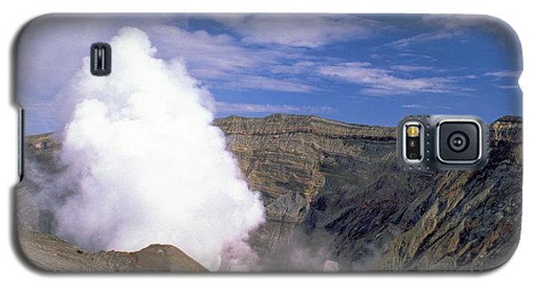 Galaxy S5 Case featuring the photograph Mount Aso by Travel Pics