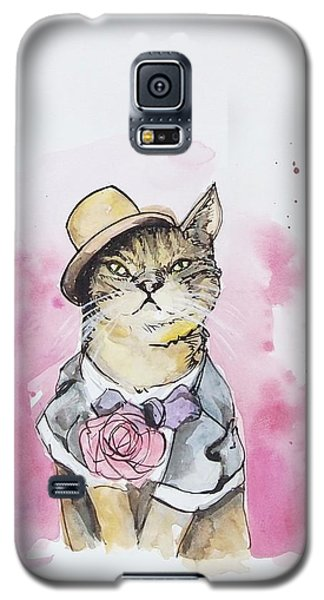 Mr Cat In Costume Galaxy S5 Case by Venie Tee
