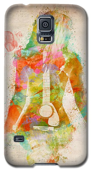 Nudes Galaxy S5 Cases - Music Was My First Love Galaxy S5 Case by Nikki Marie Smith