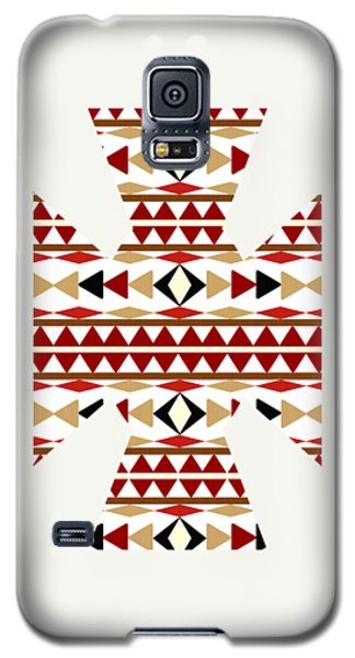 Navajo White Pattern Art Galaxy S5 Case by Christina Rollo