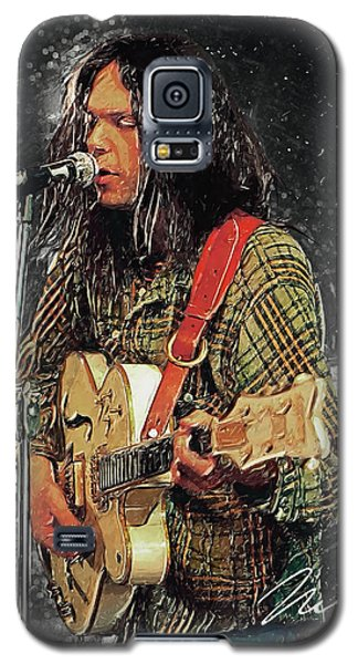 Neil Young Galaxy S5 Case by Taylan Apukovska