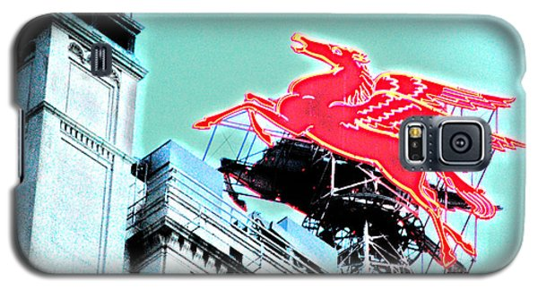 Neon Pegasus Atop Magnolia Building In Dallas Texas Galaxy S5 Case by Shawn O'Brien