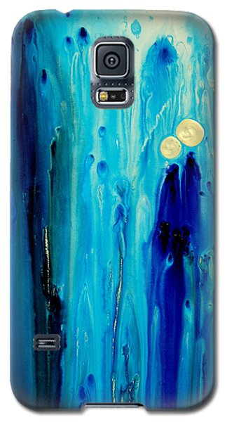 Blue Galaxy S5 Cases - Never Alone Galaxy S5 Case by Sharon Cummings