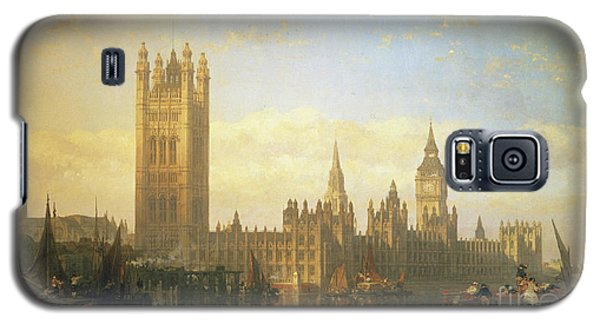 New Palace Of Westminster From The River Thames Galaxy S5 Case by David Roberts