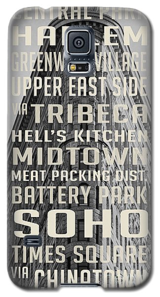 New York City Subway Stops Flat Iron Building Galaxy S5 Case by Edward Fielding