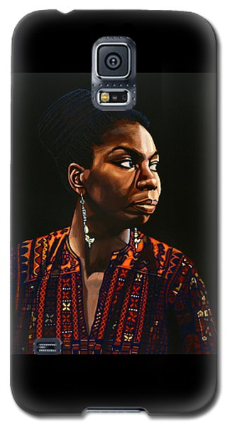 Nina Simone Painting Galaxy S5 Case by Paul Meijering