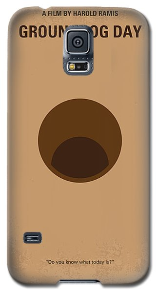 No031 My Groundhog Minimal Movie Poster Galaxy S5 Case by Chungkong Art