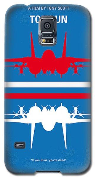 No128 My Top Gun Minimal Movie Poster Galaxy S5 Case by Chungkong Art