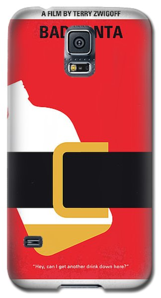 No702 My Bad Santa Minimal Movie Poster Galaxy S5 Case by Chungkong Art