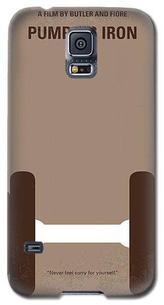 No707 My Pumping Iron Minimal Movie Poster Galaxy S5 Case by Chungkong Art