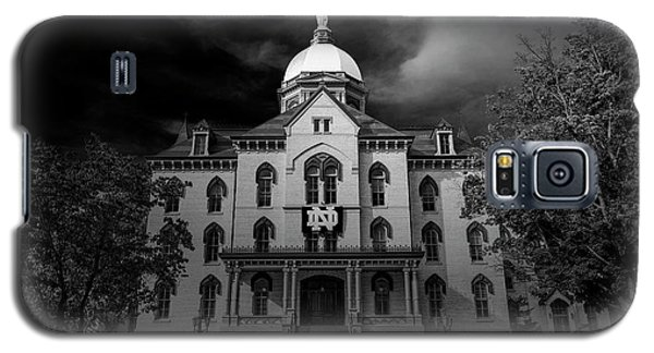 Notre Dame University Black White 3a Galaxy S5 Case by David Haskett