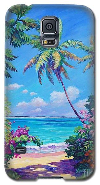 Ocean View With Breadfruit Tree Galaxy S5 Case by John Clark